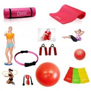 Cosfer Endpoint Deluxe Pilates Seti 4mm Yoga Matı Kırmızı