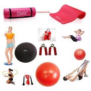 Cosfer Endpoint Pilates Seti 4mm Yoga Matı Kırmızı