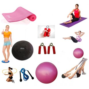 Cosfer Endpoint Pilates Seti  Yoga Matı Pembe