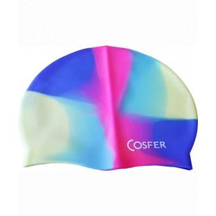 Cosfer Çok Renkli Silikonlu Bone