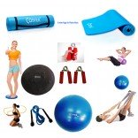 Cosfer Endpoint Pilates Seti 4mm Yoga Matı Mavi