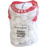 Dunlop Çantalı 40 MM 100'lü Beyaz Masa Tenis Topu