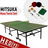 Mitsuka 501A Yeşil Masa Tenis Masası - Mitsuka Masa Tenis Seti HEDİYE!