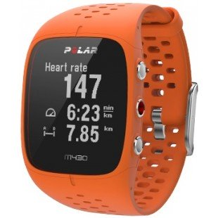 Polar M430 Turuncu Kalp Atış Monitörü Bilekten Nabız Ölçümü GPS'li Nabız Kontrol Saati
