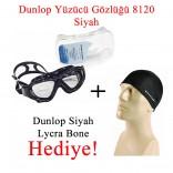 Dunlop Yüzücü Gözlüğü +Dunlop Siyah Renk Likra Bone