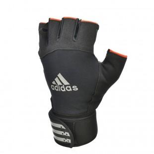 Adidas Kısa Parmaklı, Bileklikli Ağırlık Eldiveni - Small (ADGB-12341SW)