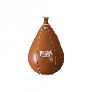 Lonsdale Authentic Kahverengi Deri Standart Boks Hız Topu (26068)