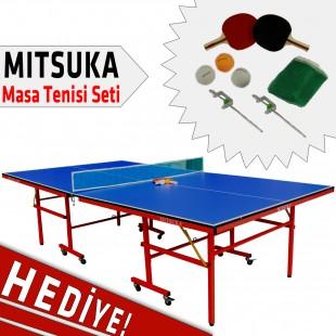 Mitsuka Strike-X-Blue Mavi Masa Tenis Masası - Mitsuka Masa Tenis Seti HEDİYE!