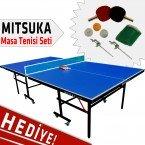 Mitsuka Play-B1 Mavi Masa Tenis Masası - Mitsuka Masa Tenis Seti HEDİYE!