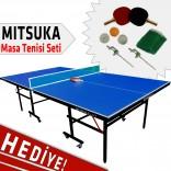 Mitsuka Play-B2 Mavi Masa Tenis Masası - Mitsuka Masa Tenis Seti HEDİYE!