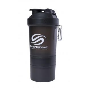 Smart Shake 600ML Gunsmoke Black Shaker