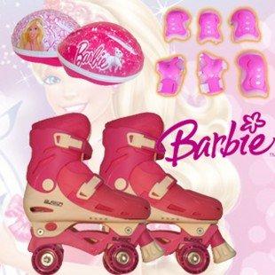 Busso 4 Tekerlekli Paten & Barbie Koruma Seti 35-38