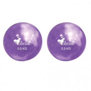 Ebruli 2'li Ağırlık Topu - Mor