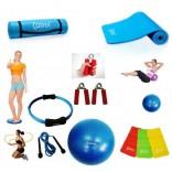 Cosfer Endpoint Deluxe Pilates Seti 4mm Yoga Matı Mavi